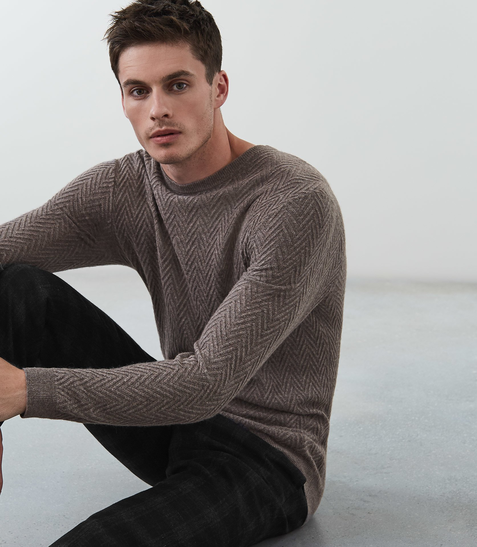 Avons Cable Knit Jumper Taupe Reiss