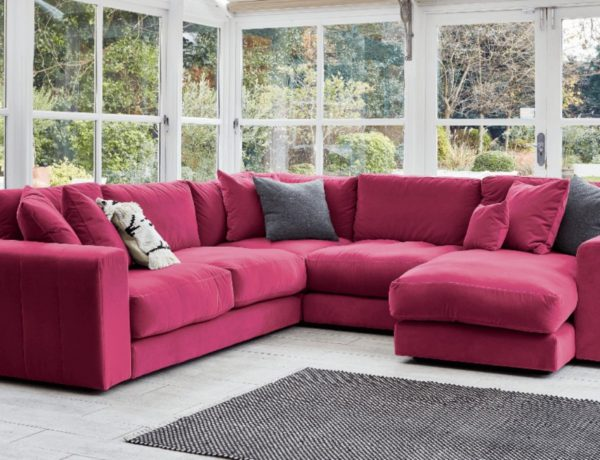 Darlings of Chelsea, Uppingham U-Shaped Corner Sofa in Sahara Azalea