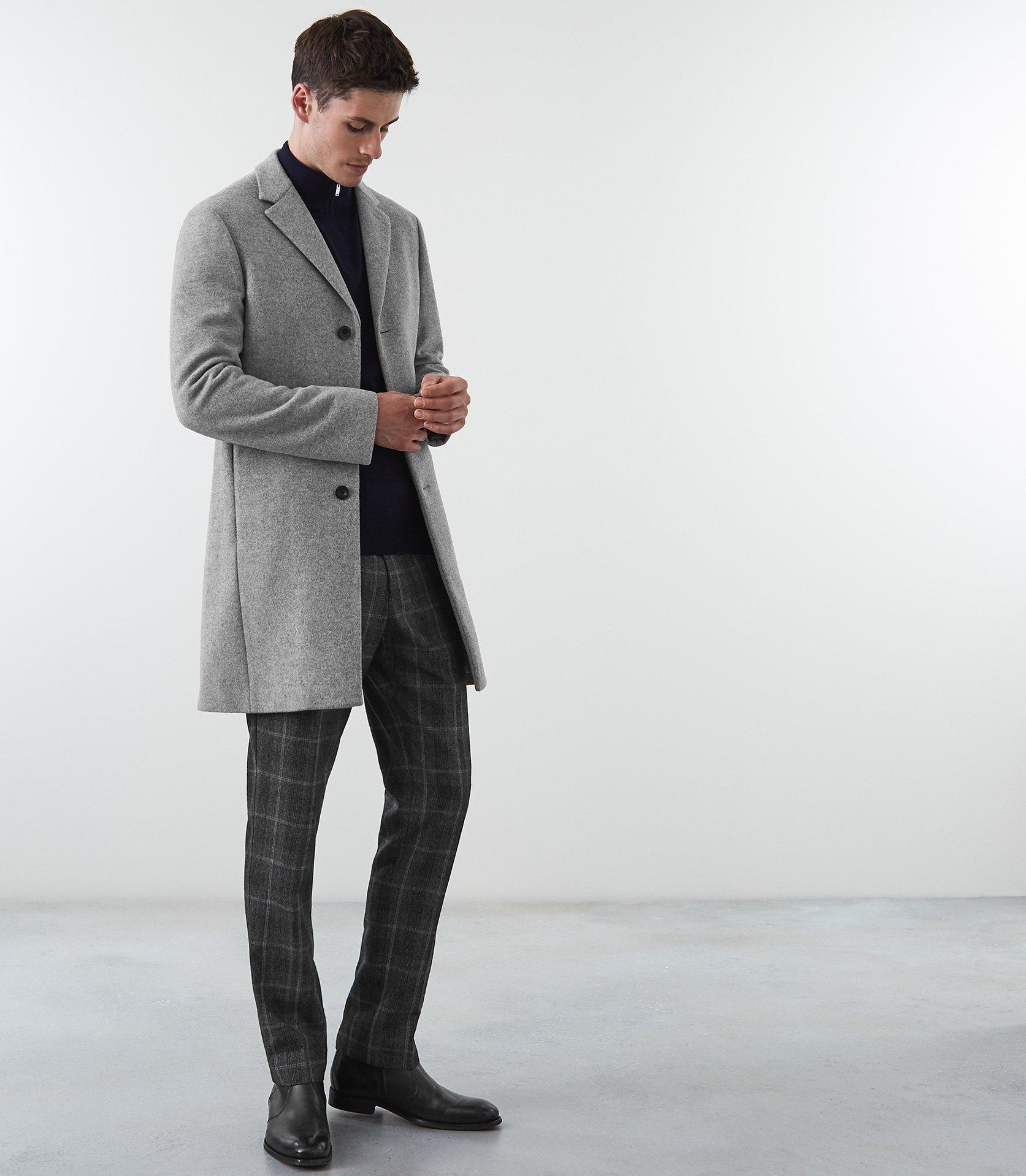 Gable Wool Epsom Overcoat Soft Grey Reiss