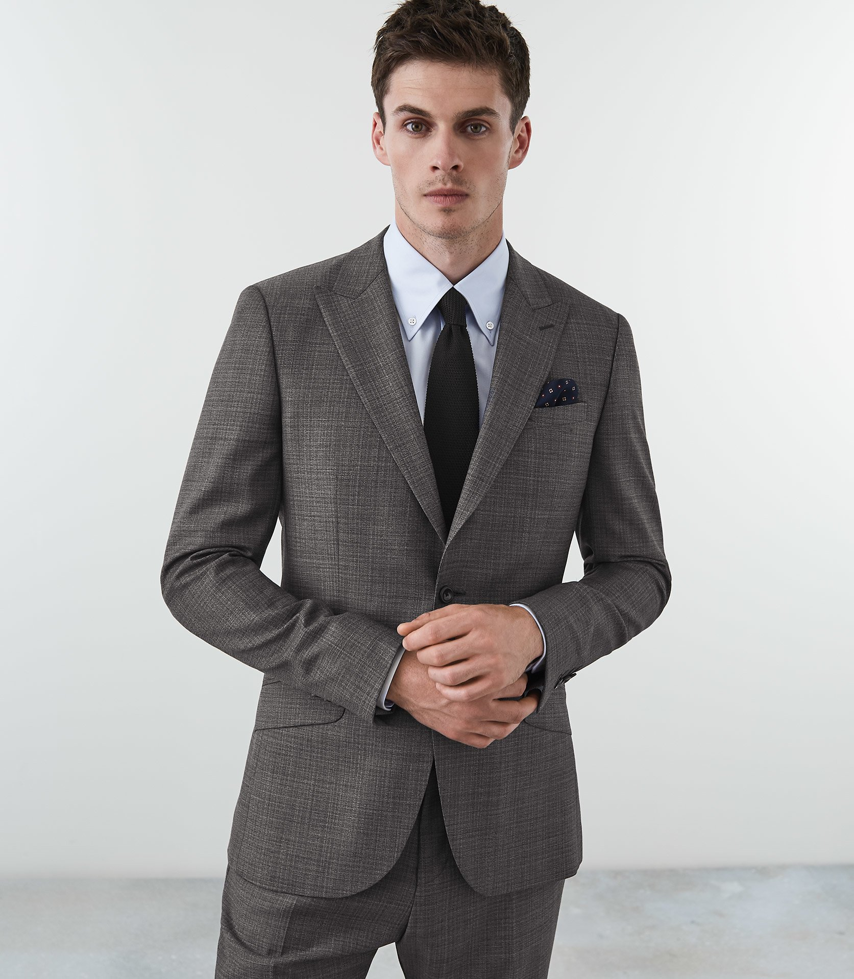 Norman Modern Fit Suit Grey Reiss