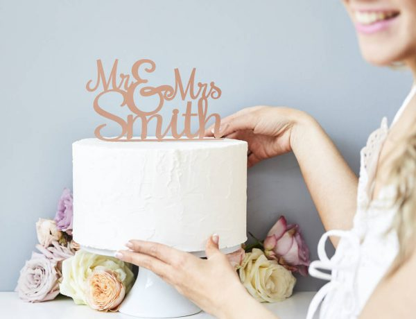 Wedding Styling Personalised Wedding Cake Toppers