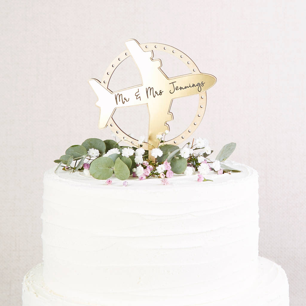 Wedding Cake Topper Travel Theme