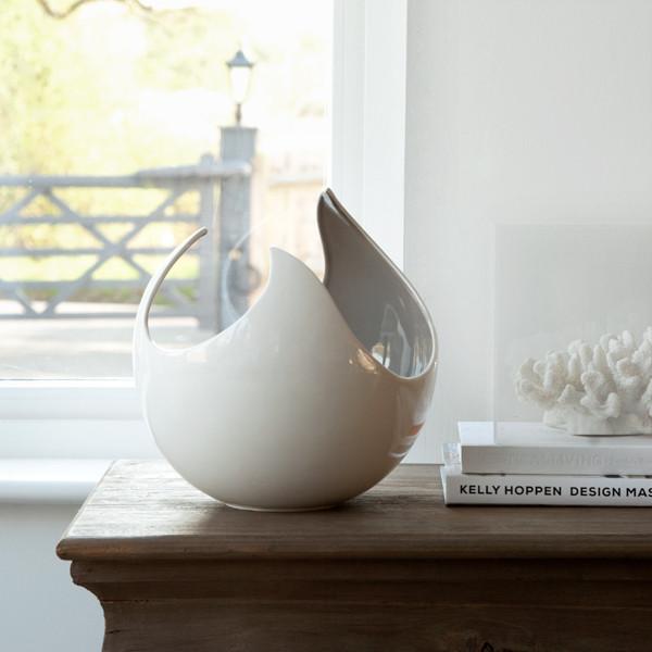 Lotus Vase Kelly Hoppen London White Porcelain