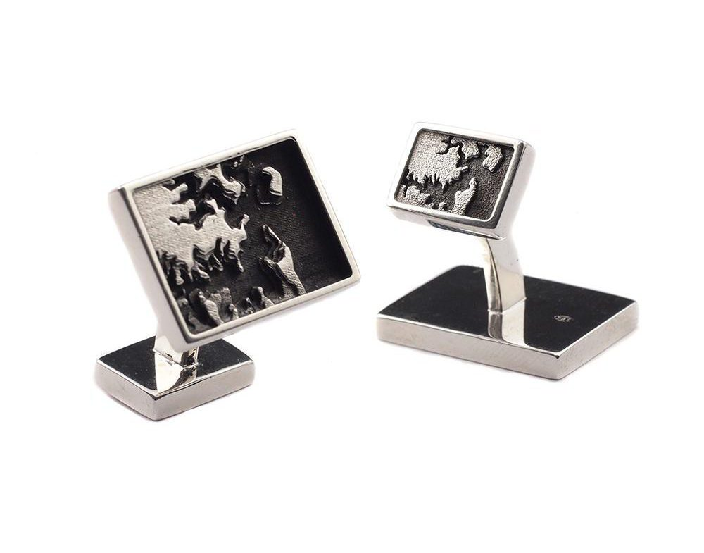 Men's Cufflinks with Map of Sydney