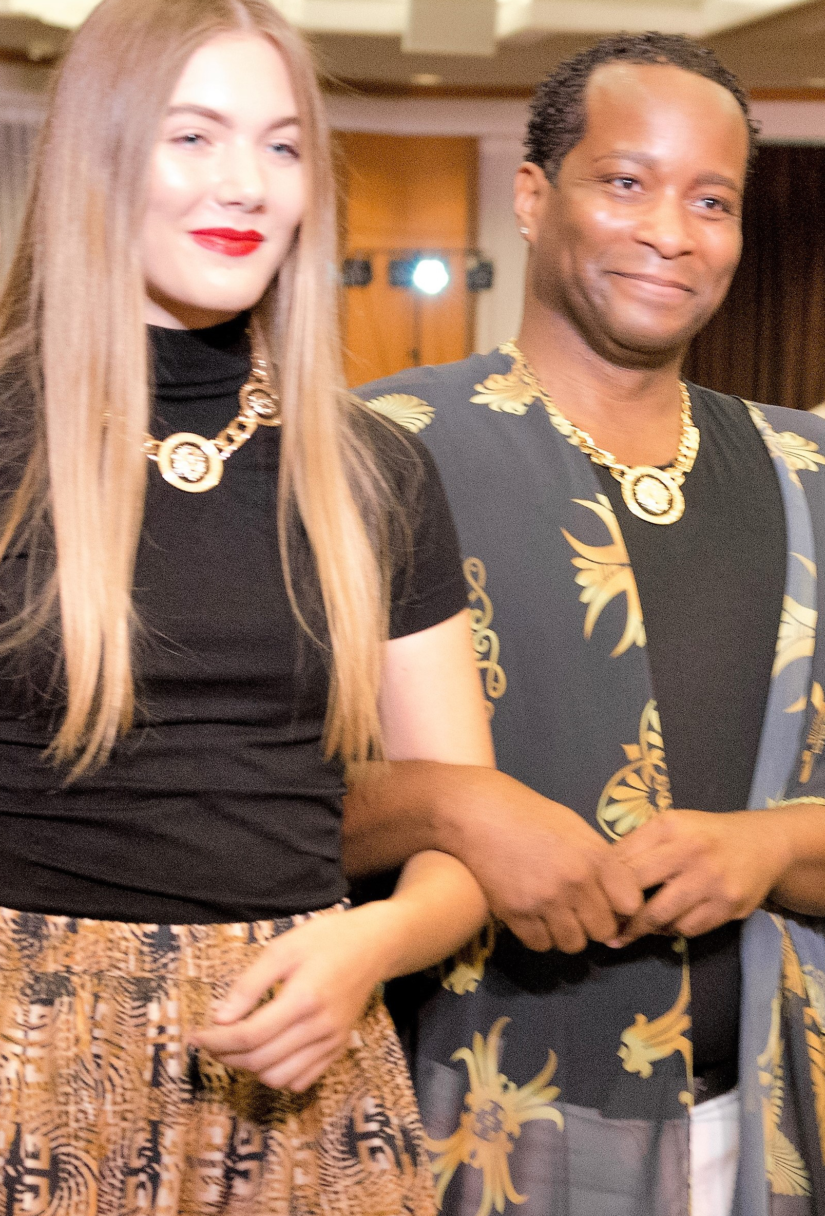 Tony Vincente and his 'Top Model' at the La Saphuers Fashion Show