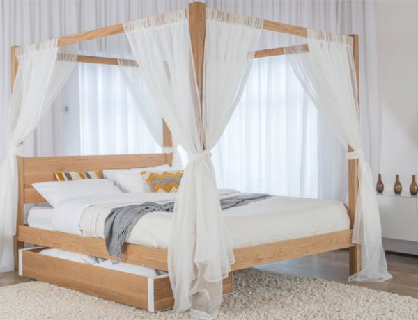 Classic Wooden Four Poster Bed