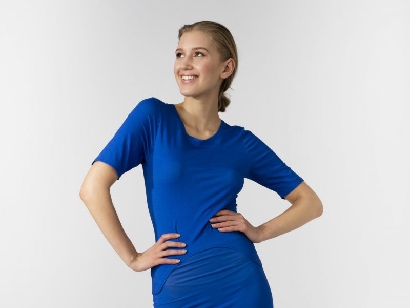 Women's Electric Blue Stretch Top