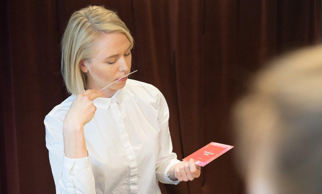Sniph Founder Lisa Kjellqvist Smelling Perfumes