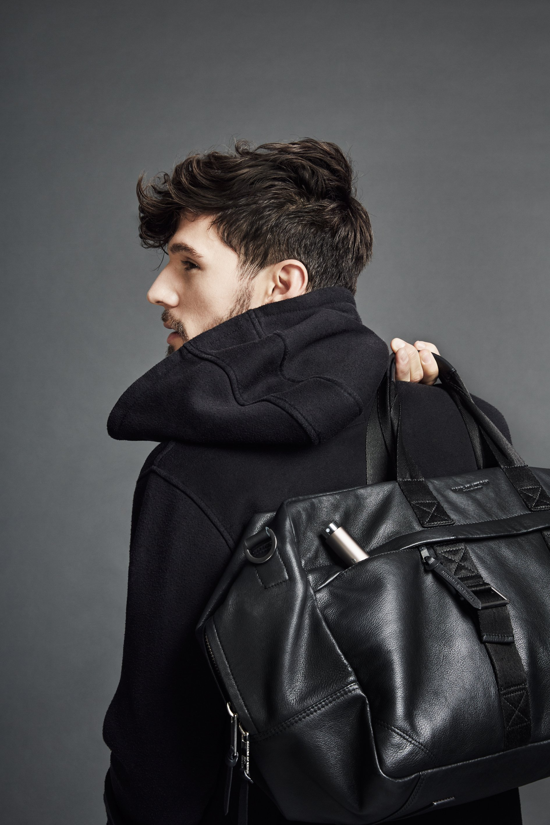 Man with Fragrance in Bag
