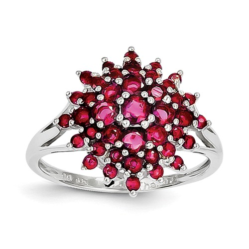 Buckshot Bloom Ring Ruby