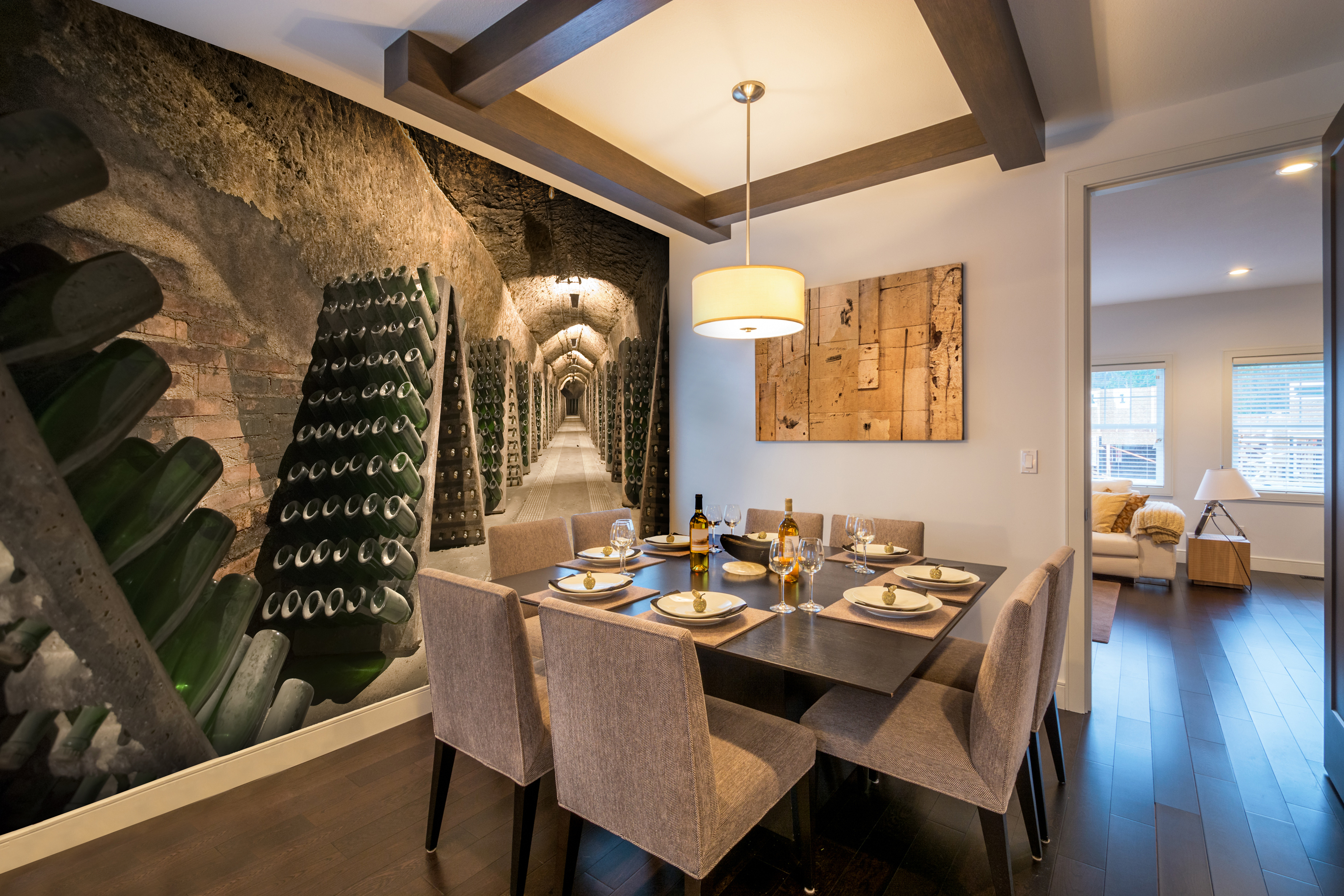 Wine Cellar Photographic Wall Art Mural Wallpaper