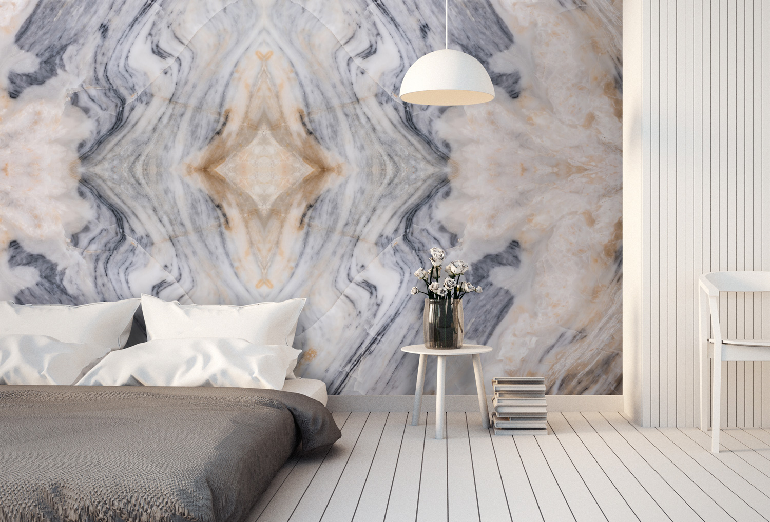 Patterned Marble Wallpaper Wall Art Mural