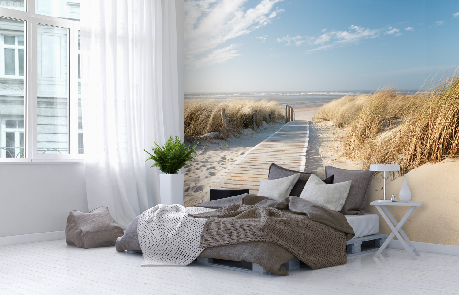 Beach Photographic Wall Art Mural