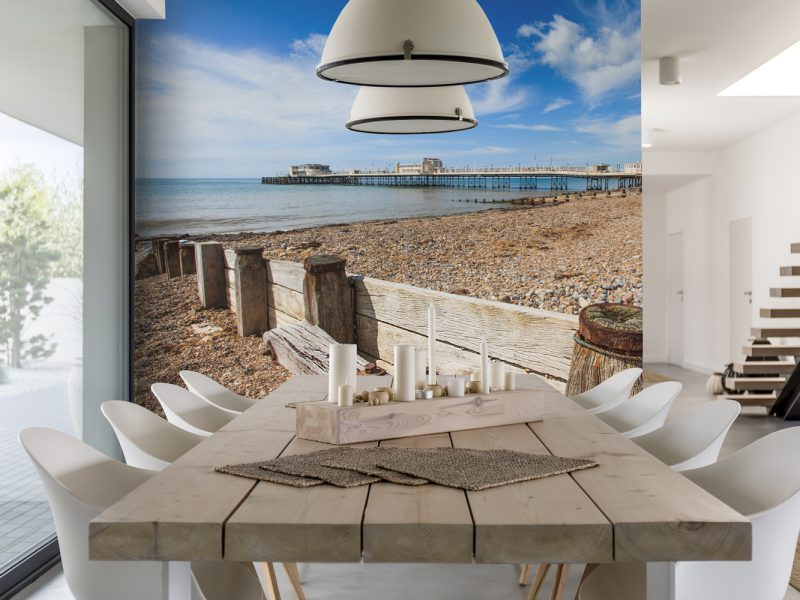Beach and Pier Wall Art Mural
