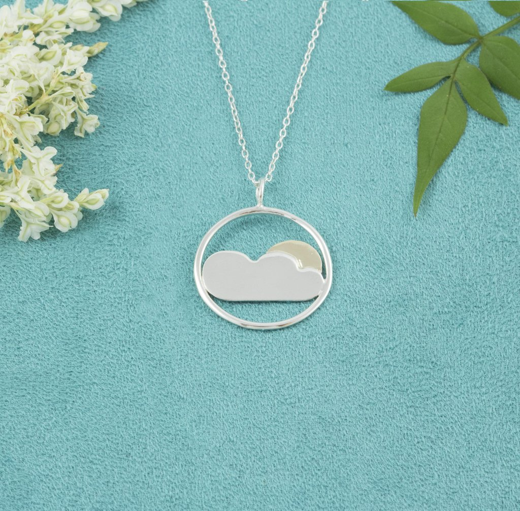 Cloud and Sun Necklace