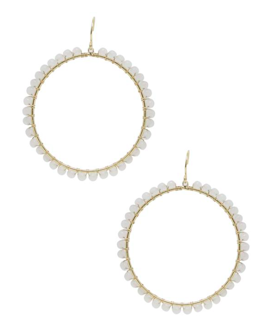 Opal Hoop Earrings