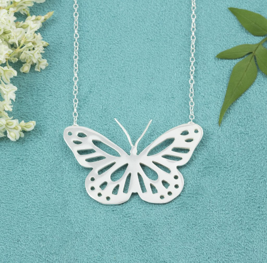 Handcrafted Sterling Silver Butterfly Necklace