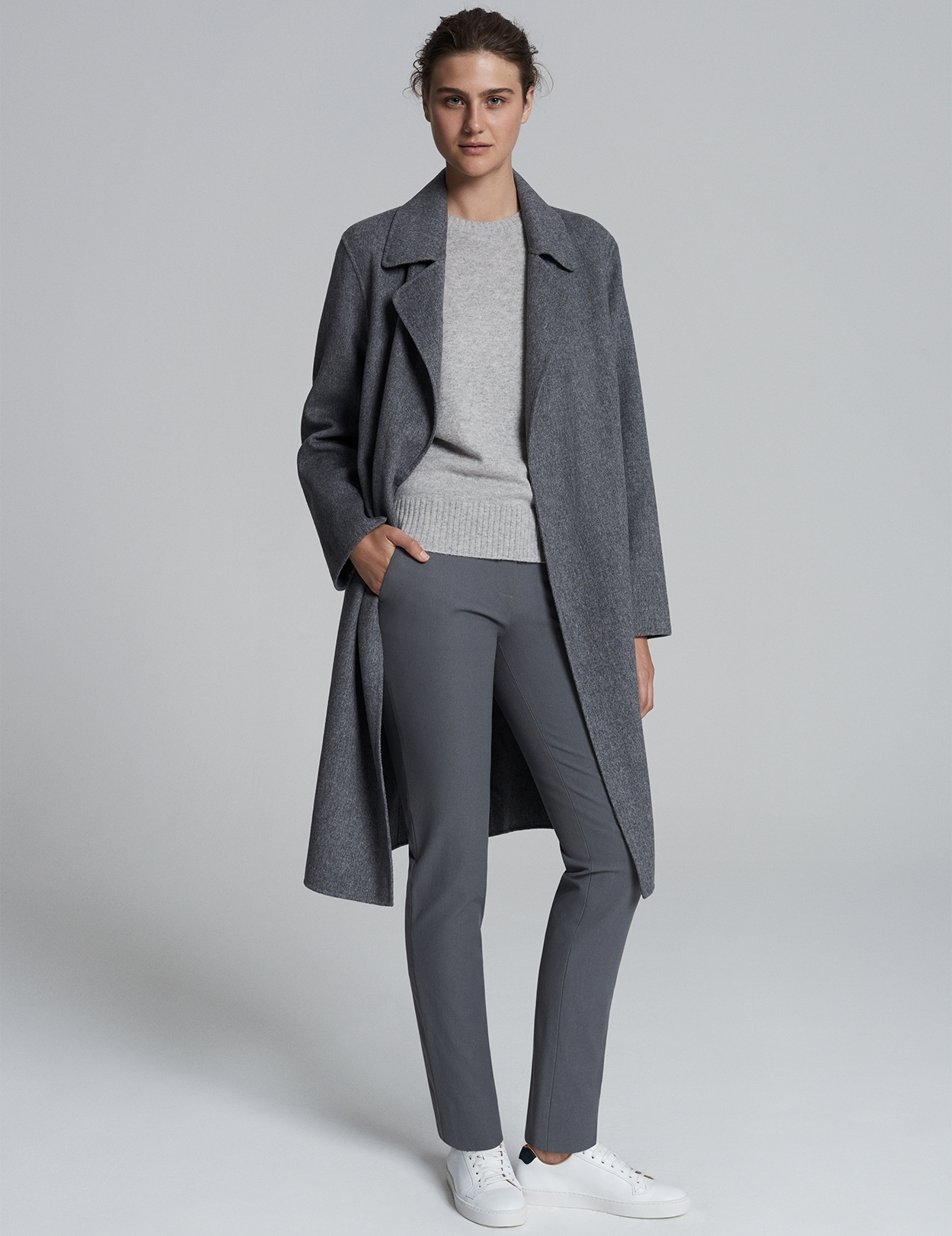 Long Wool Coat Grey