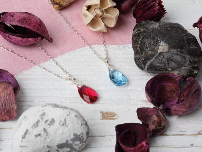 Pear Shaped Crystal Necklaces