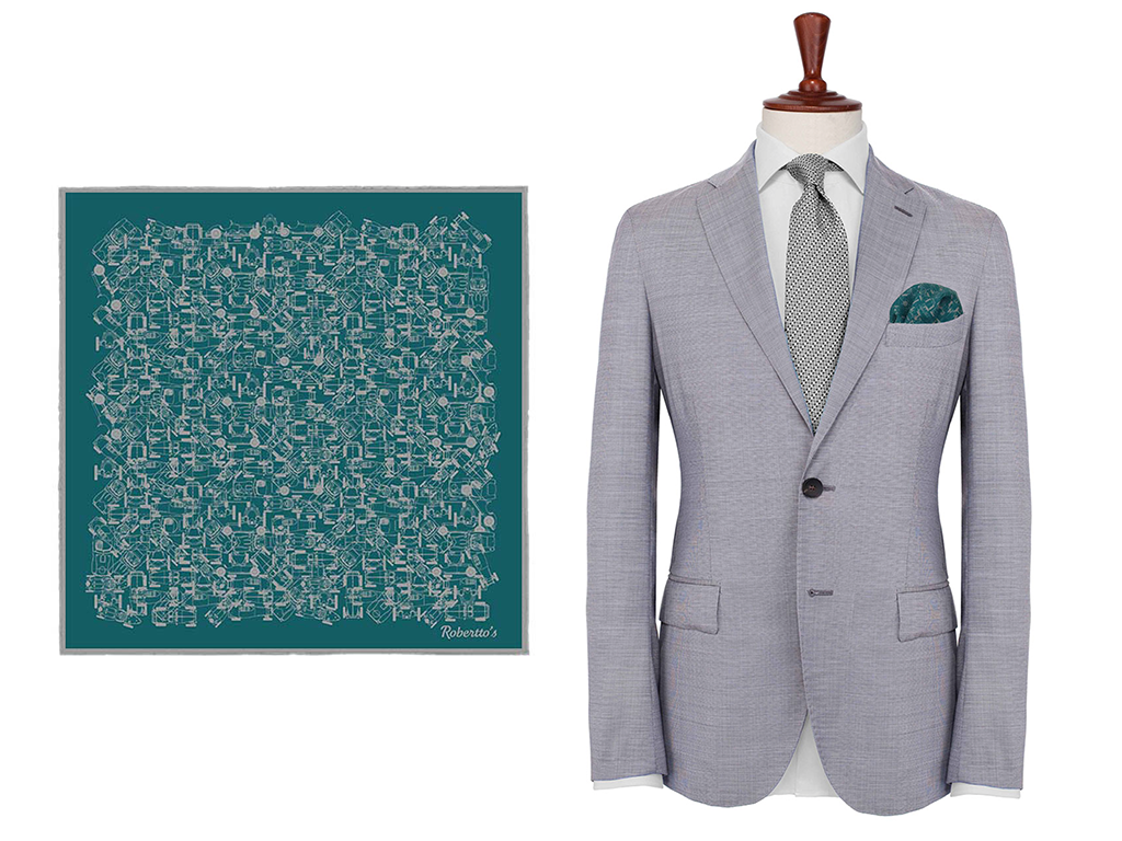 Teal Silk Pocket Square