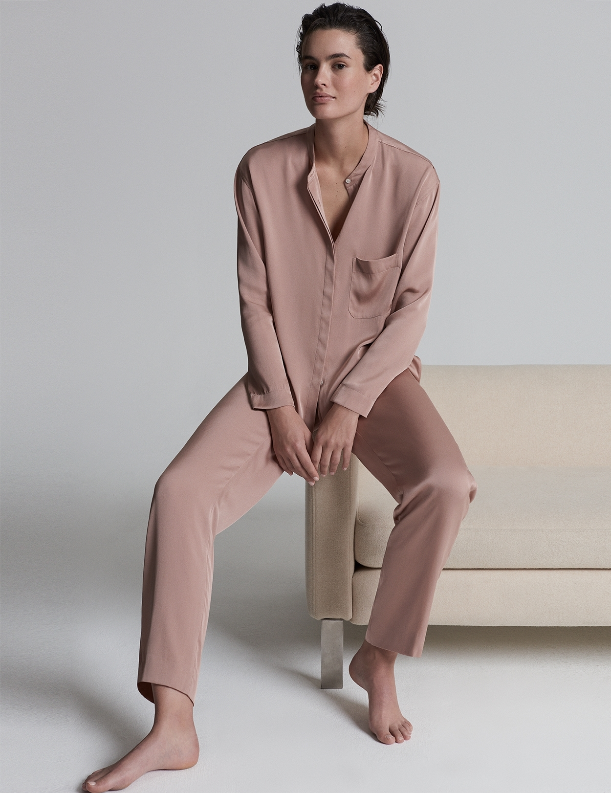 Rose Silk Pyjamas