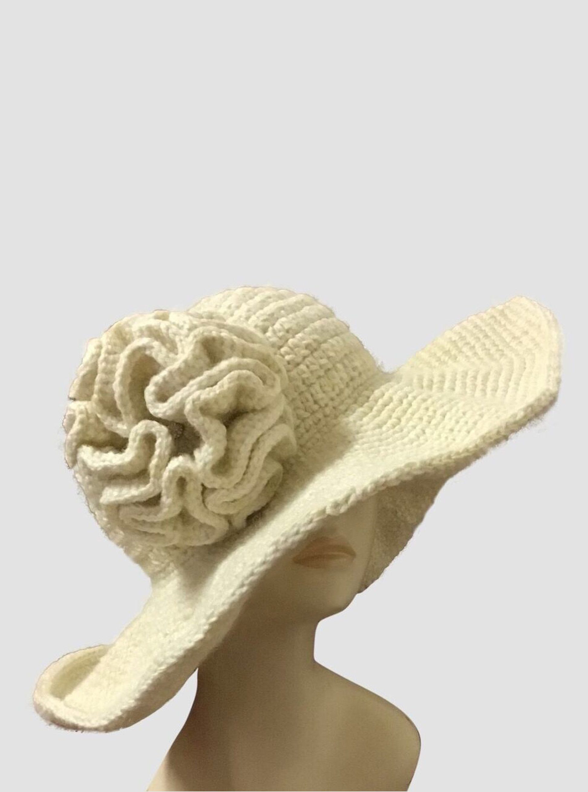 Crocheted Bridal Wedding Hat