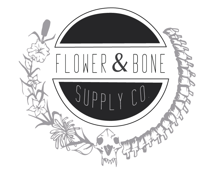 Flower & Bone Supply Company Logo