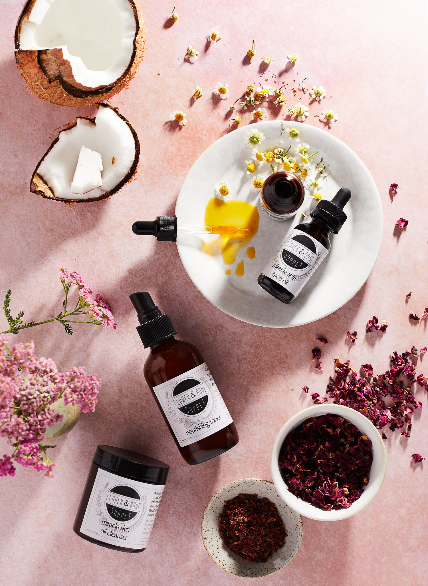 Flower & Bone Supply Skincare Products