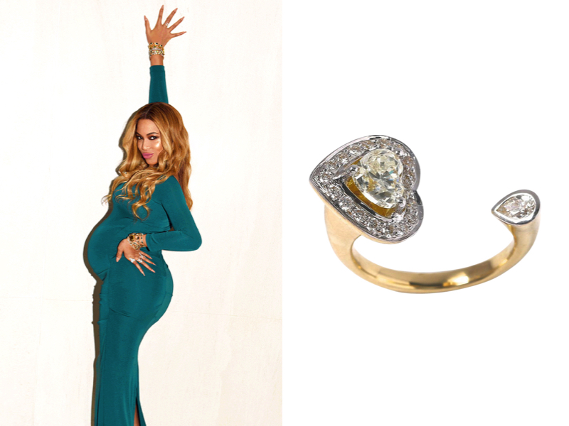 Beyonce wearing Queen Bey Open Diamond Ring by Pheres Jewellery