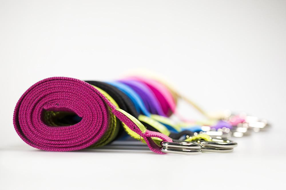 Organic Cotton D-Ring Yoga Belts