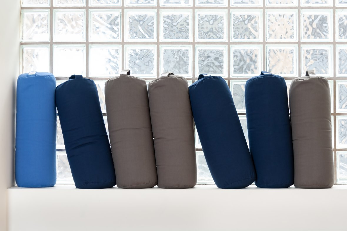 Organic Yoga Props Sandbags Bolsters and Blankets