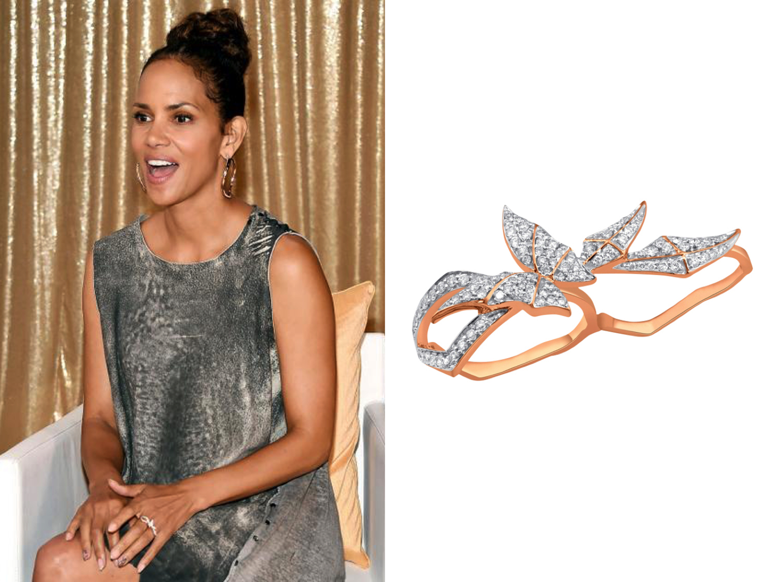 FAYE Double Ring Narcisa Pheres worn by Halle Berry