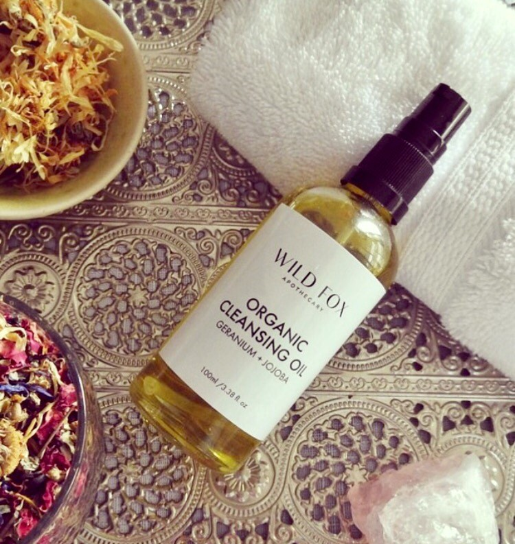 Organic Cleansing Face Oil Geranium and Jojoba