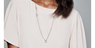 Sterling Silver Knotted Hearts Necklace