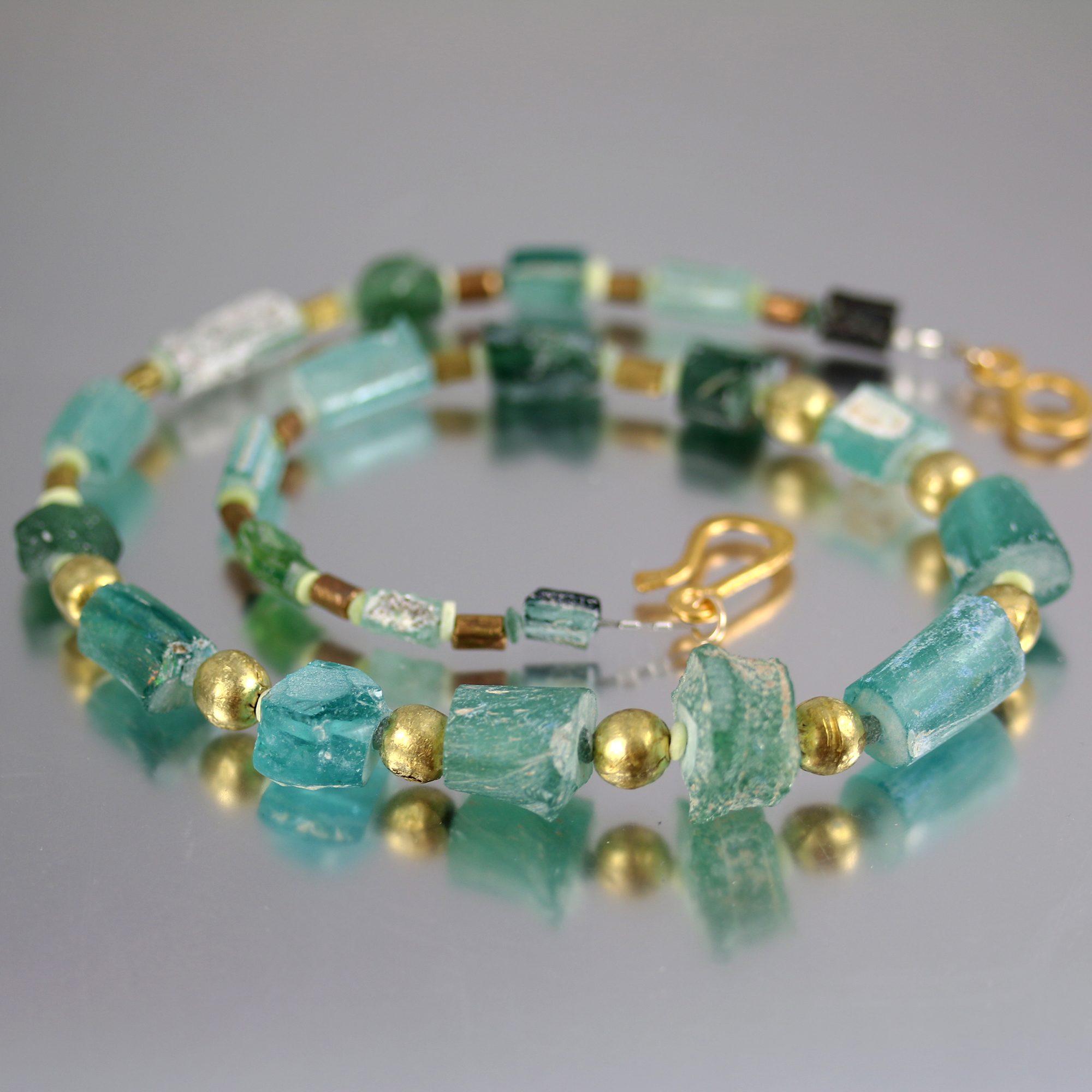 Ancient Roman Glass Necklace Jill McCrystal Jewellery