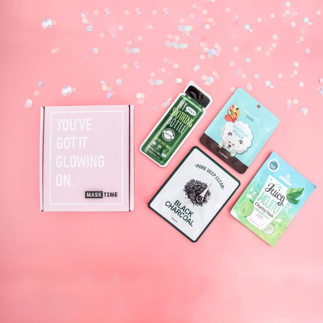Glow Starter Box Mask Time Korean Sheet Face Mask Subscription