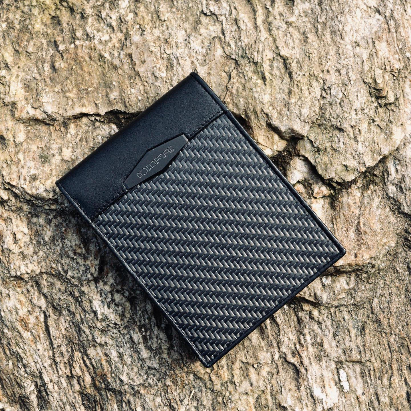 Coldfire Carbon Fiber and Leather Tactical Grade Men's Leather Wallet