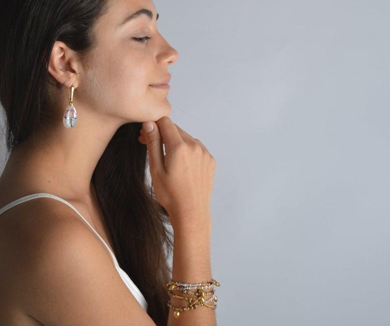 Akoya Keshi Saltwater Pearl Necklace