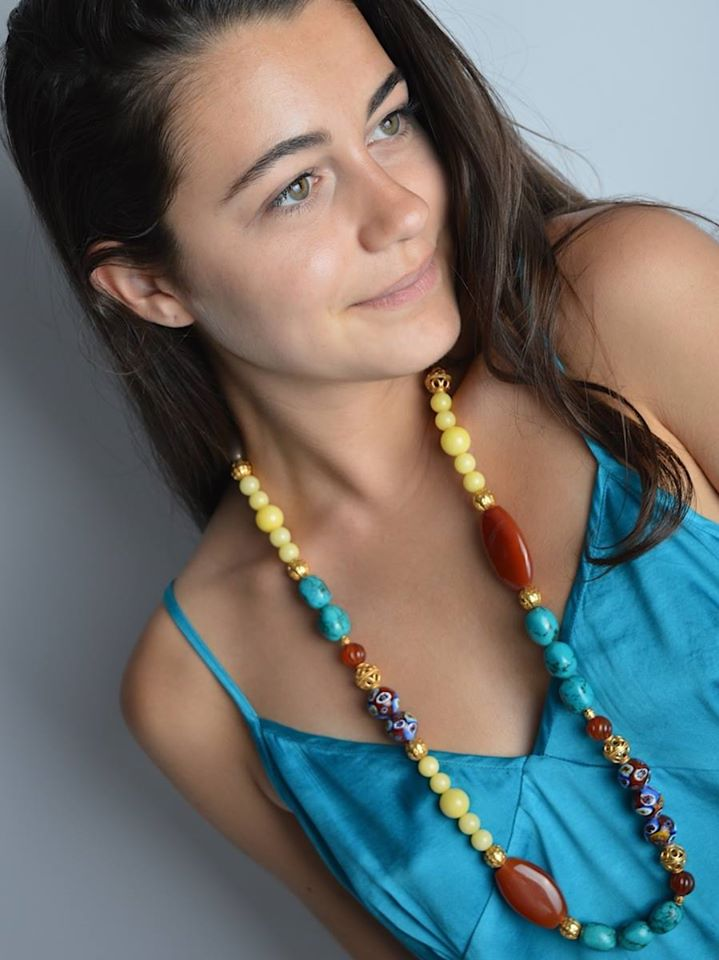 Long Colourful Beaded Necklace