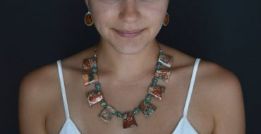 Shades of Santa Fe Necklace Rhyolite Turquoise Opal Silver