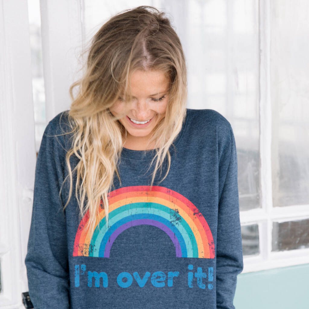 Rainbow Slogan Women's Sweatshirt