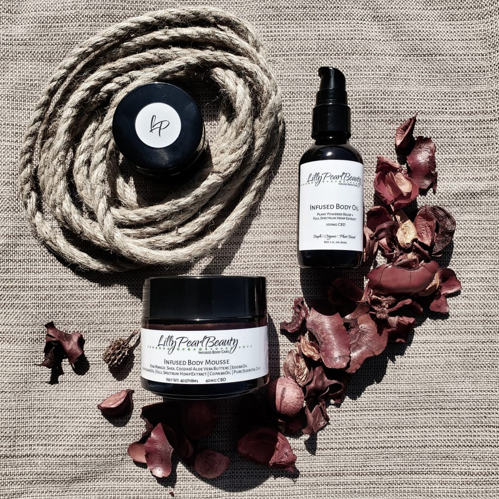 LillyPearlBeauty Co. Hemp Infusions Natural Skincare Products