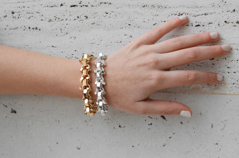 Reuse Design Serpentine Bracelet