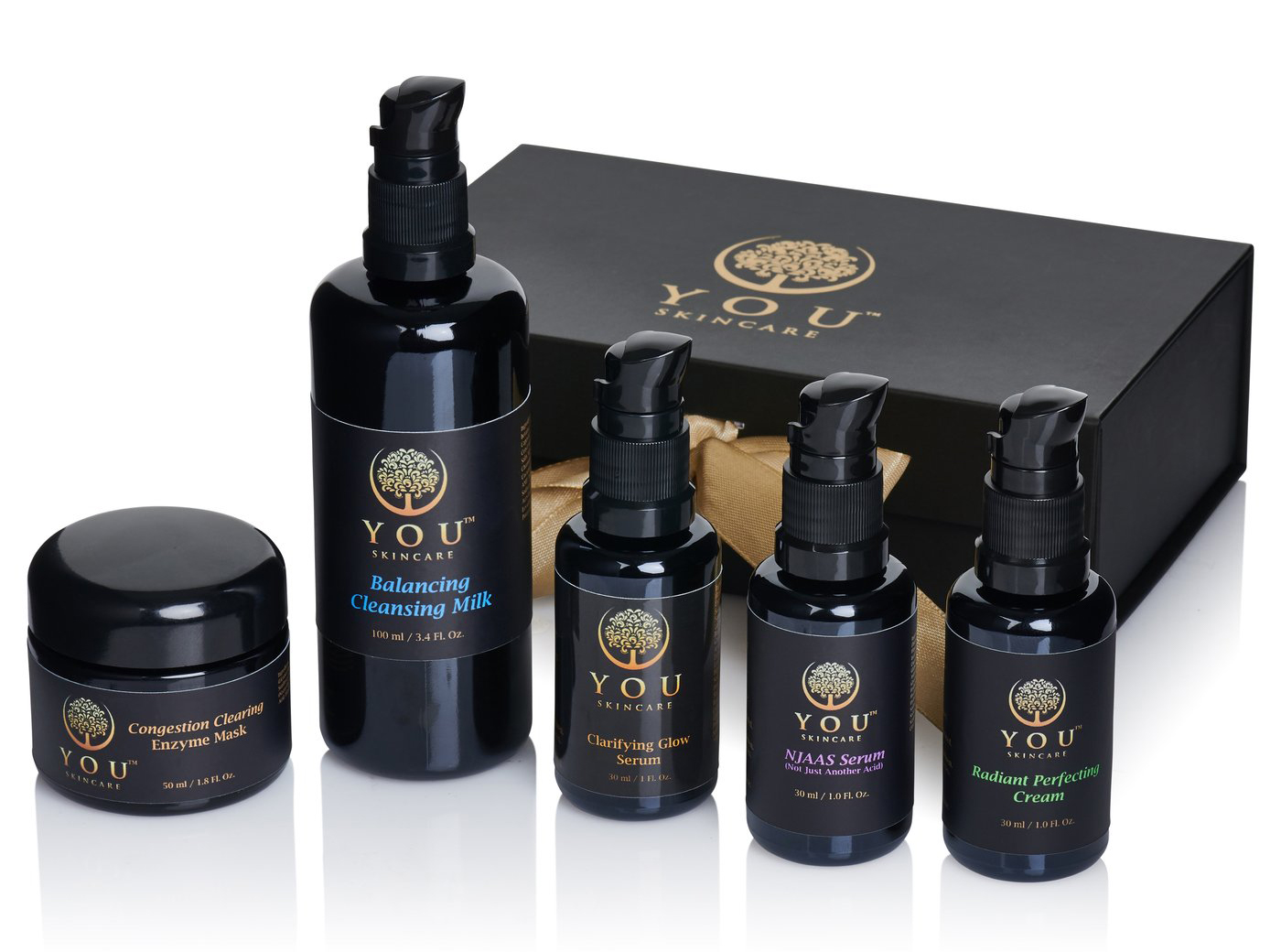 YOU Skincare Glow Setter Gift Set Effective Luxury Natural Skincare