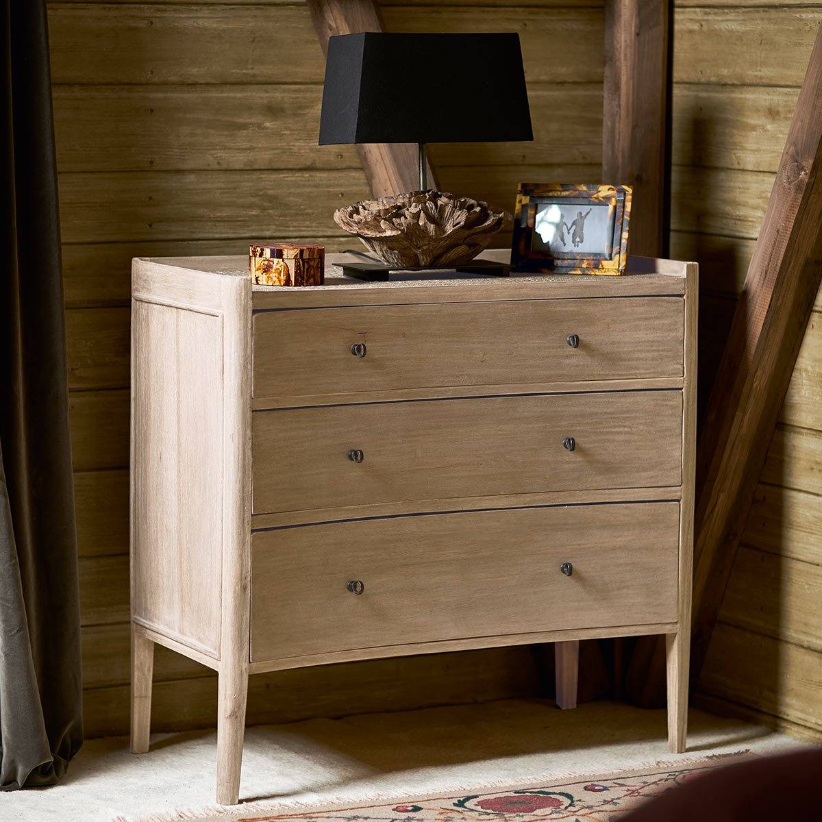 Large Balabac Chest of Drawers Natural Wood