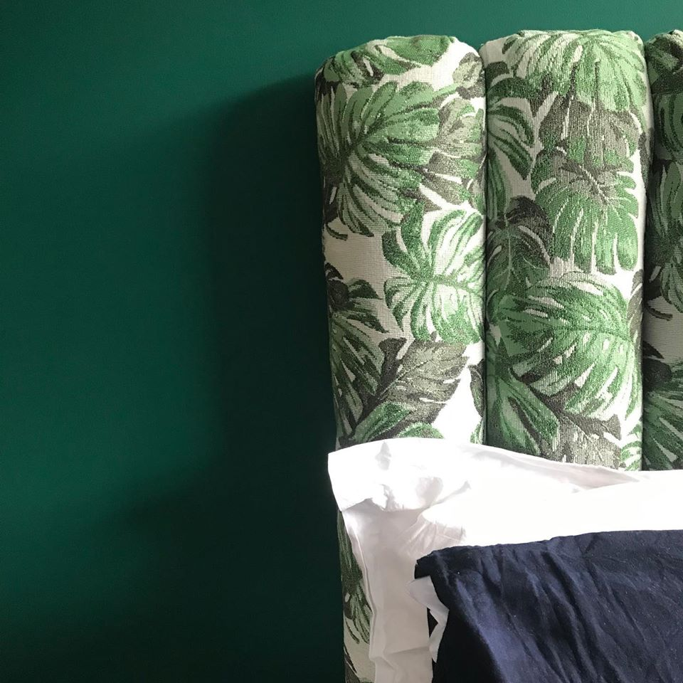 Palm Tree Green Fabric Yorkshire Fabric Shop