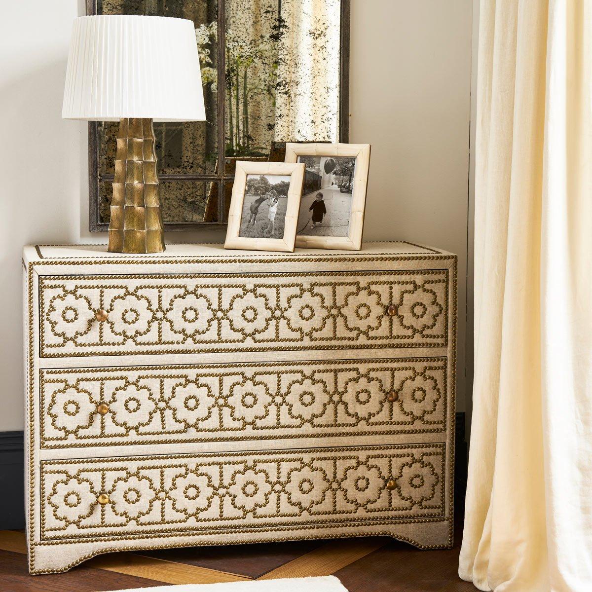 Durbar Chest of Drawers Upholstered OKA