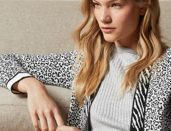 Ted Baker Animal Print Oversized Cardigan Knitwear