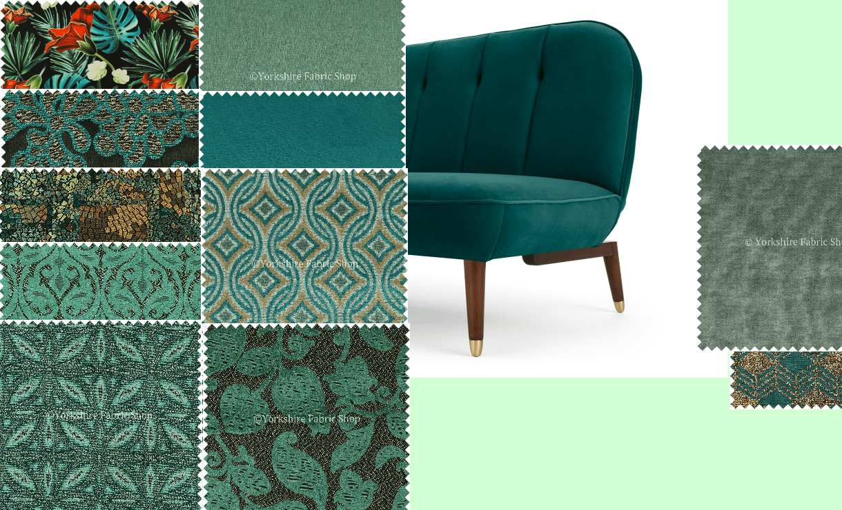 Fabric Moodboard Interior Design Yorkshire Fabric Shop