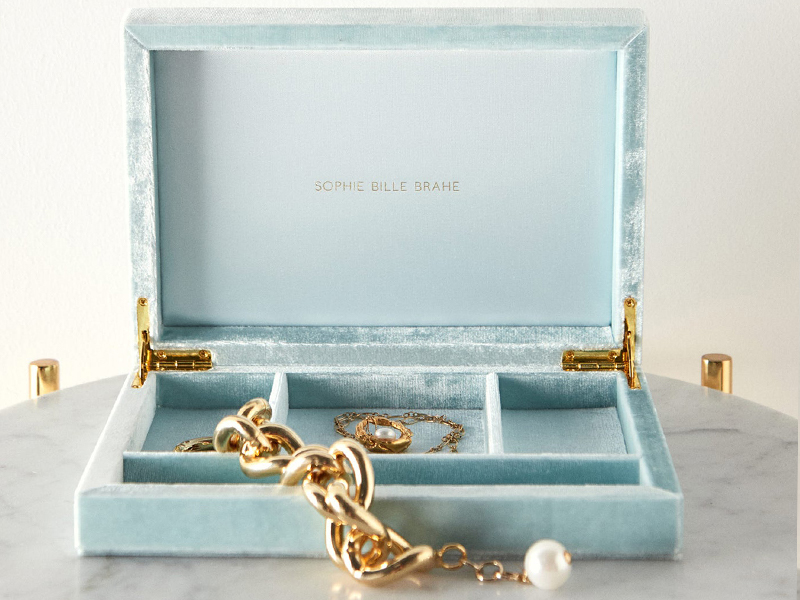 Sophie Bille Brahe Luxury Velvet Jewellery Boxes